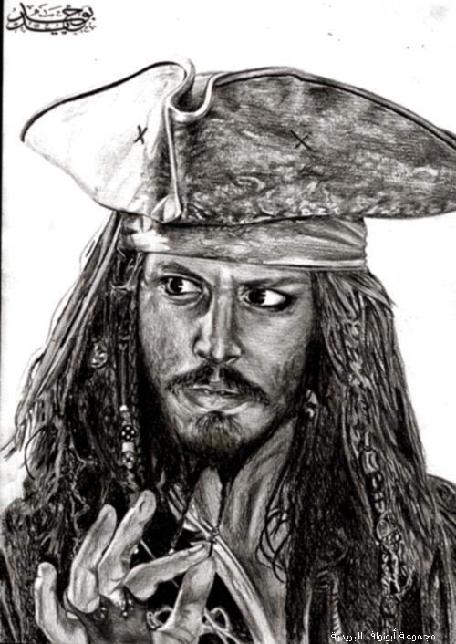 رسومات بالقلم الرصاص ((ابداع)) jack-sparrow.jpg